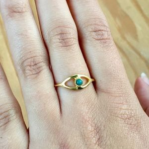 Sold Out Gold & Turquoise Pura Vida Evil Eye Ring